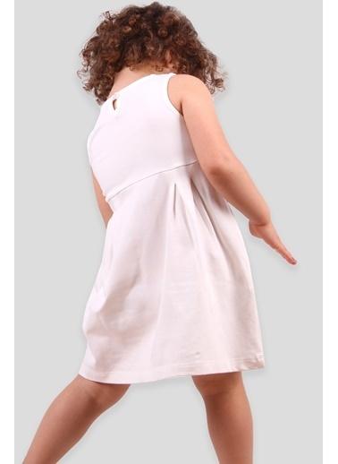 Breeze Kız Çocuk Elbise Çiçekli Ekru (1-4 Yaş) Ekru